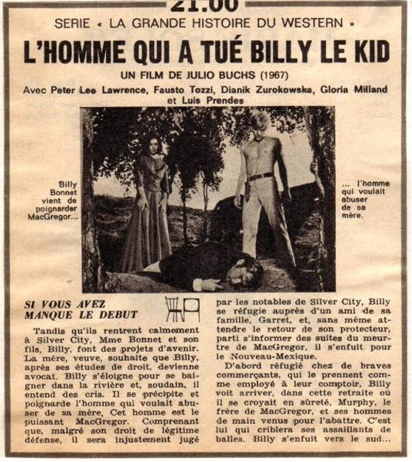 L'homme qui a tué Billy le Kid - El hombre que mató a Billy el Niño - 1967 - Julio Buchs Hommeq10