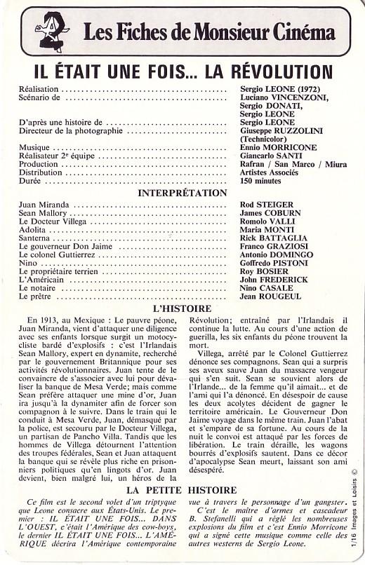 Il était une fois la révolution ( Giu la Testa ) - 1972 - Sergio LEONE Revo210