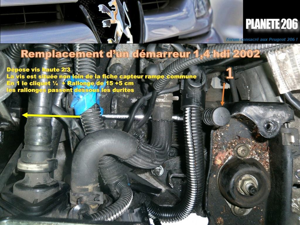 REMPLACEMENT DEMARREUR 206 1.4 Hdi  ( TUTO  en cours) Diapos15