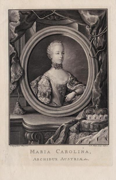 Portraits de Marie Caroline d'Autriche, reine de Naples et de Sicile Marie_16