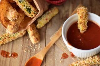 Frites de courgette au panko (chapelure) Frite-10