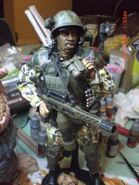 Diorama Alien&Predator. Aponef12
