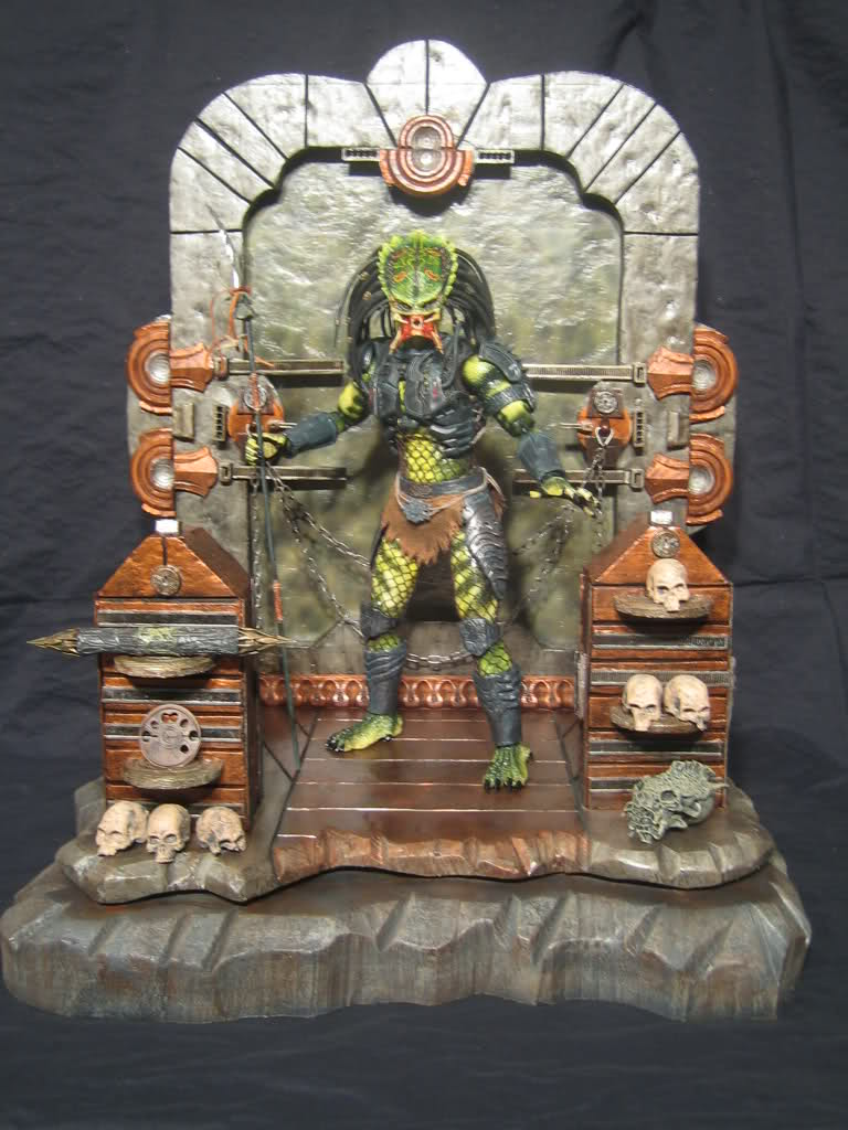 Diorama Alien&Predator. Hryd0l10