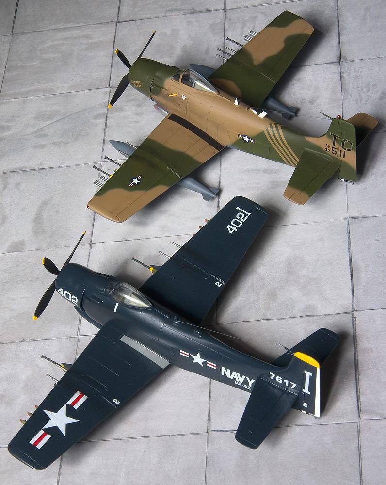 Hasegawa & Airfix/Heller Skyraiders 7947_h10