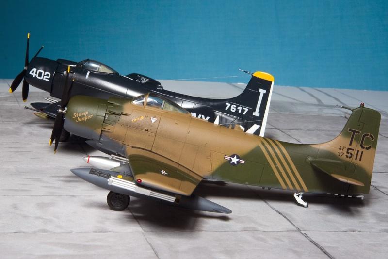Hasegawa & Airfix/Heller Skyraiders 7956_h10