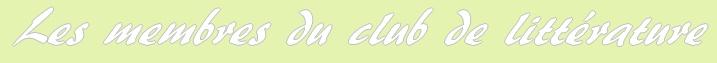 Les membres du club de littérature Membre13