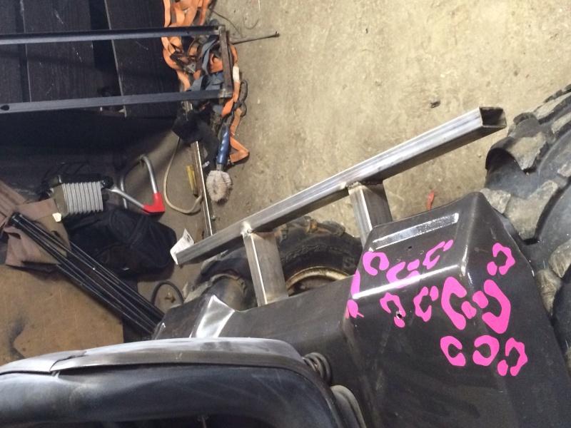 pink cheetah tractor build. Image13