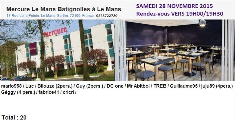 Présence au Repas du 28 soir au Mercure les Batignolles le MANS Diner_10