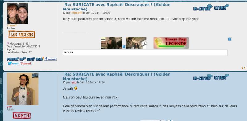 SURICATE avec Raphaël Descraques ! (Golden Moustache) - Page 48 Captur12