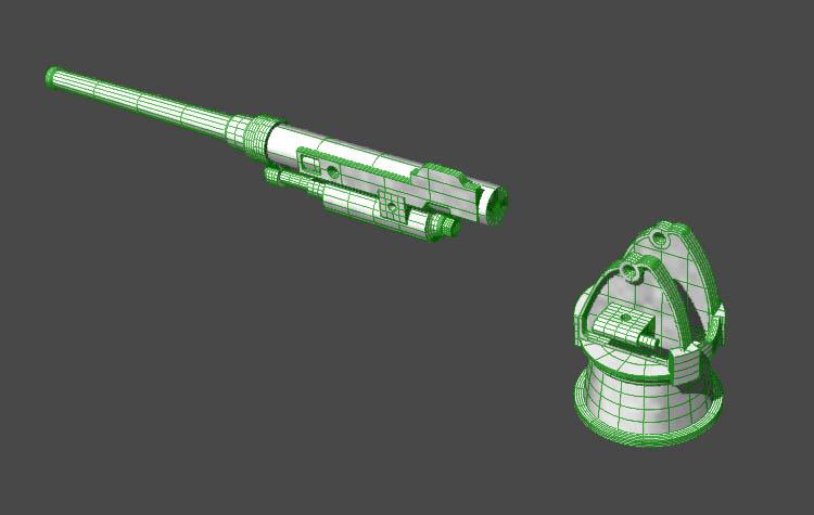 Aviso torpilleur 1905 en Scratch intégral au 1/100ème - Page 8 Canon10