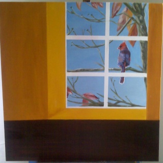 Bird in the window Bird_i16