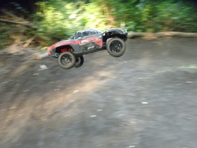 Testing out the new 1/8 scale wheels on a Slash P6190611