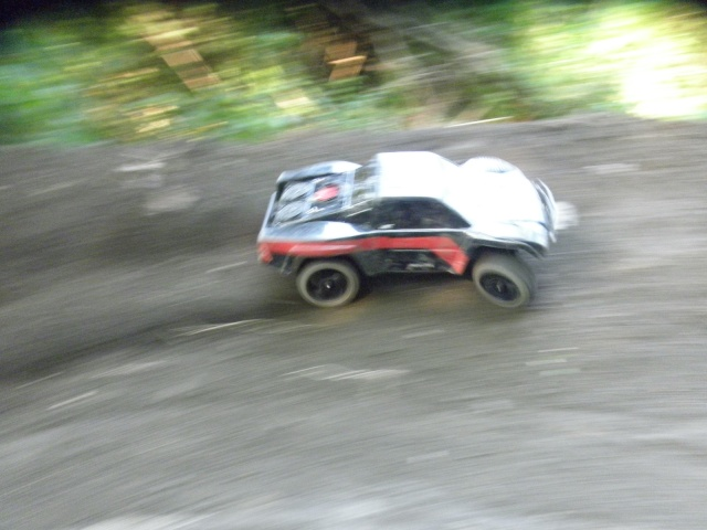 Testing out the new 1/8 scale wheels on a Slash P6190710