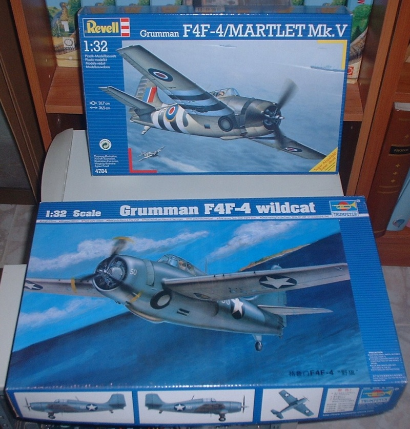 A double build: Grumman F4F-4 Wildcat (Trumpeter 1/32) and Grumman F4F-4/Martlet Mk. V (Revell 1/32) Dscf0010
