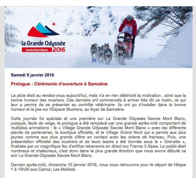 La GRANDE ODYSSÉE 2016 Go10
