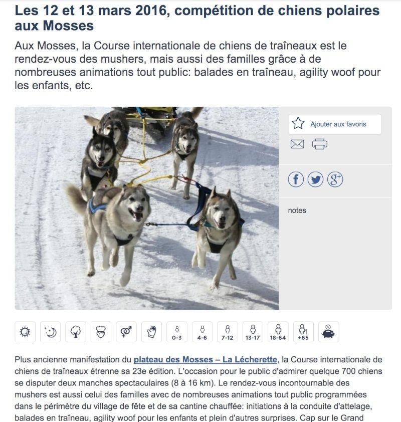 Course internationale de traîneaux à Chiens - Les Mosses - Suisse Les_mo11