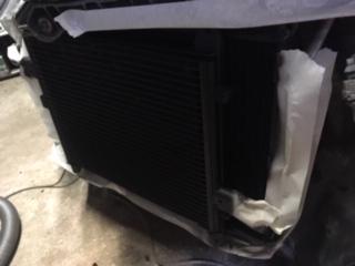 montage grilles protection pare choc avant Porsche 996 turbo 996_tu13
