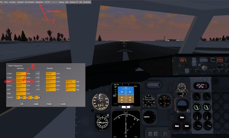 Tuto approche et atterrissage ILS Captur13