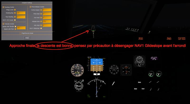 Tuto approche et atterrissage ILS Captur18