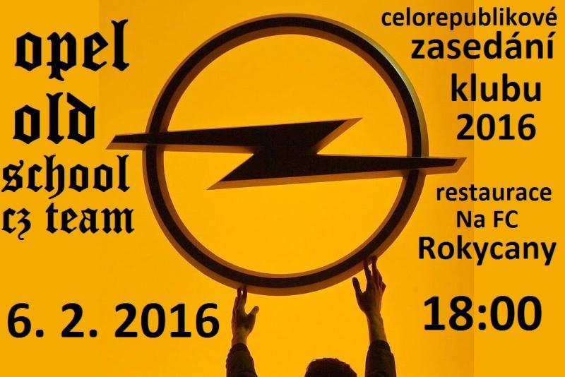 Novoroční zasedání klubu OPEL OLD SCHOOL CZ TEAM 2016 Opel-l11