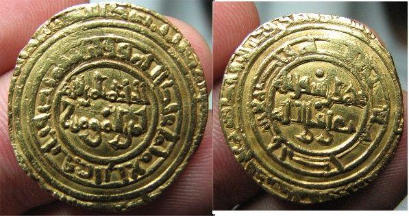 Dinar fatimí, de  Al-Hâkim al Mansûr(386/996-411/1021) Dinar211