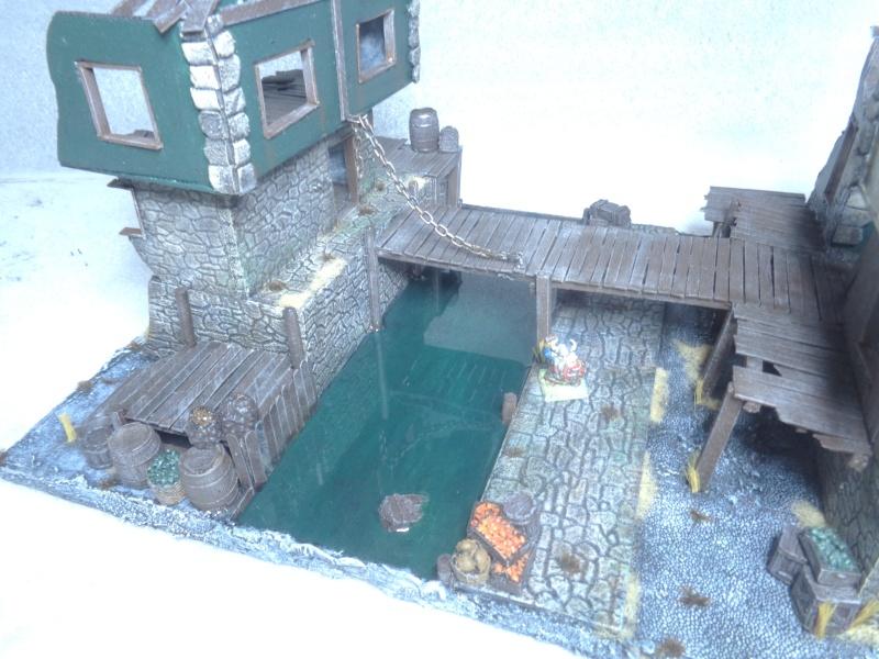 ruined house, canal & working bridge C1110