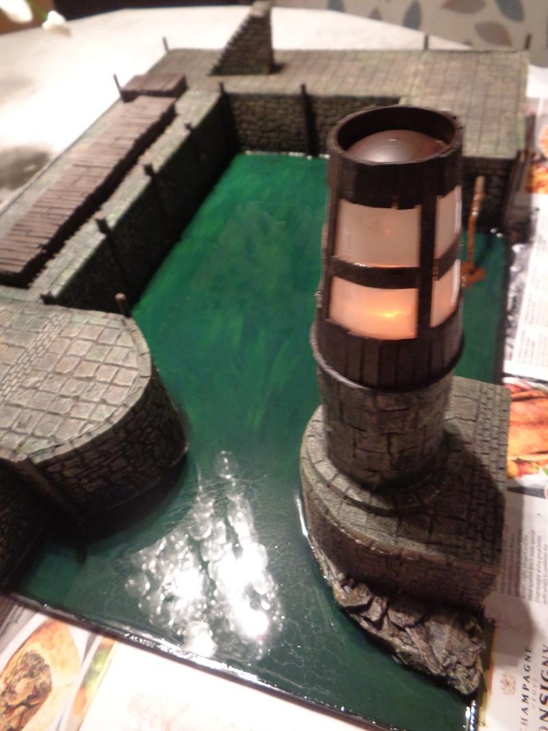 mordheim medievil port @ working lighthouse Dock211