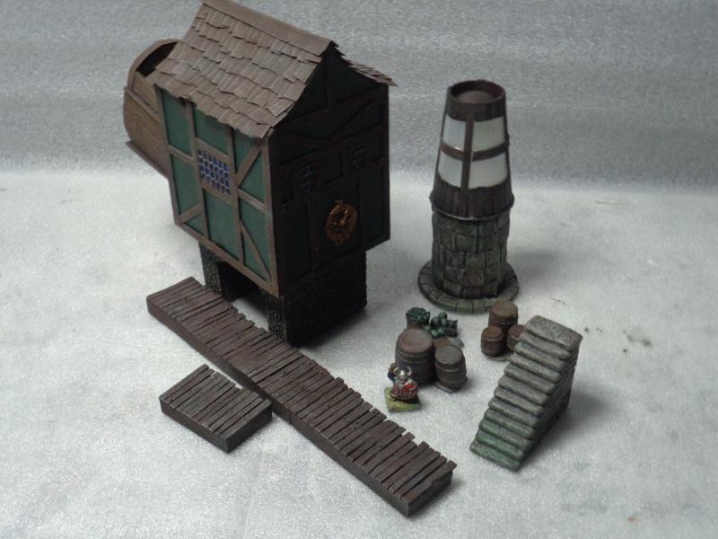 mordheim medievil port @ working lighthouse Dock710