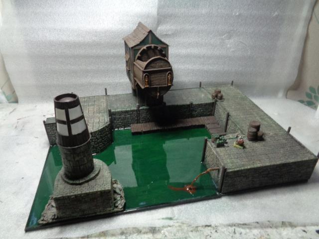 mordheim medievil port @ working lighthouse Dock_f11