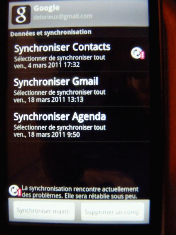 """[AIDE] Synchro des contacts """"téléphone"""" avec Google Gmail Htc10"""