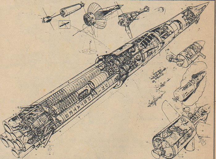 Capsule lunaire lancée par une Saturn C1 Saturn12