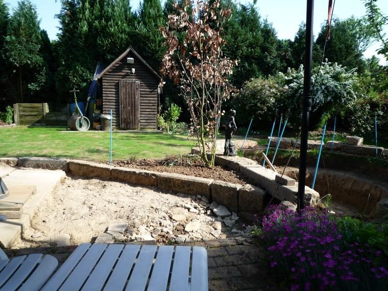 Un étang au jardin puis deux P1000112