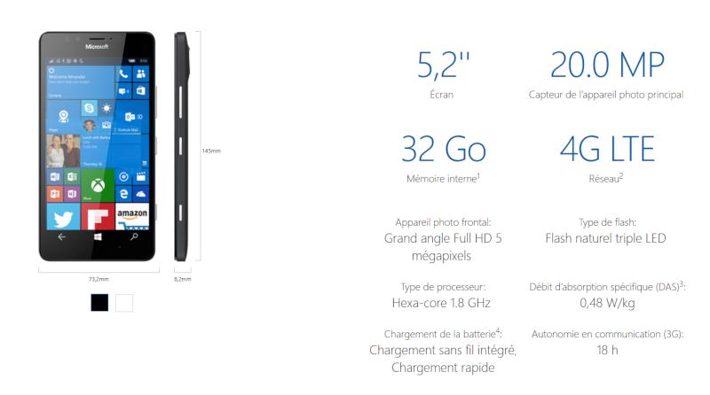 [TEST] Grandeur nature du Lumia 950 de Microsoft Spec_l10