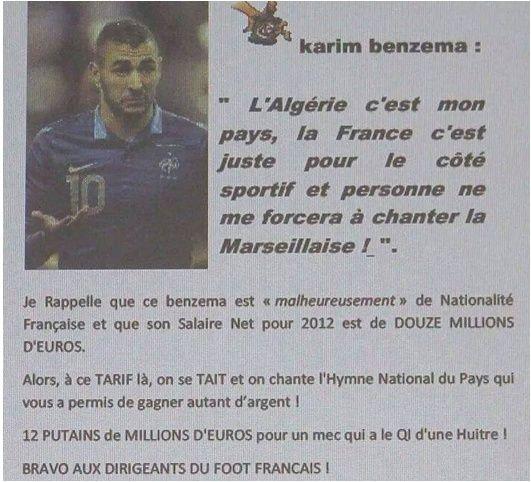 BENZEMA et l'équipe de FRANCE. 2015-110