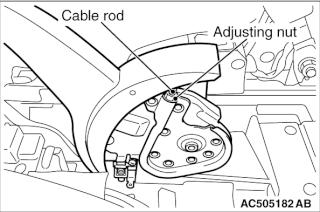 Regolazione Freno a mano Ac505111