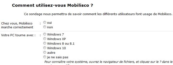 MobiliSCO le fil des utilisateurs - demandes d'aide, remarques Mobi10