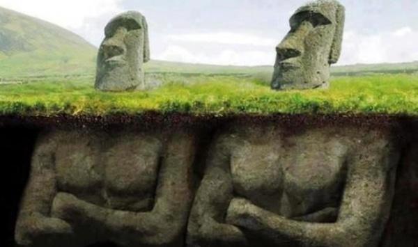 Les mystères des têtes des statues de l'ïle de Pâques Statue10