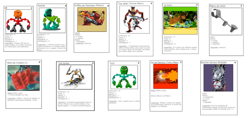 [Blog] Projet 2: BIONICLE Cards & HEROFACTORY Cards Collec10