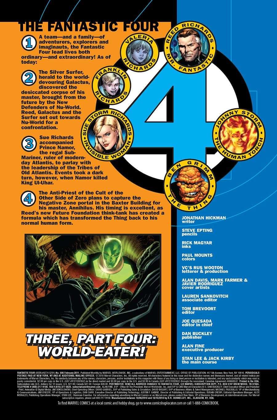 Fantastic Four #586 Prv72621