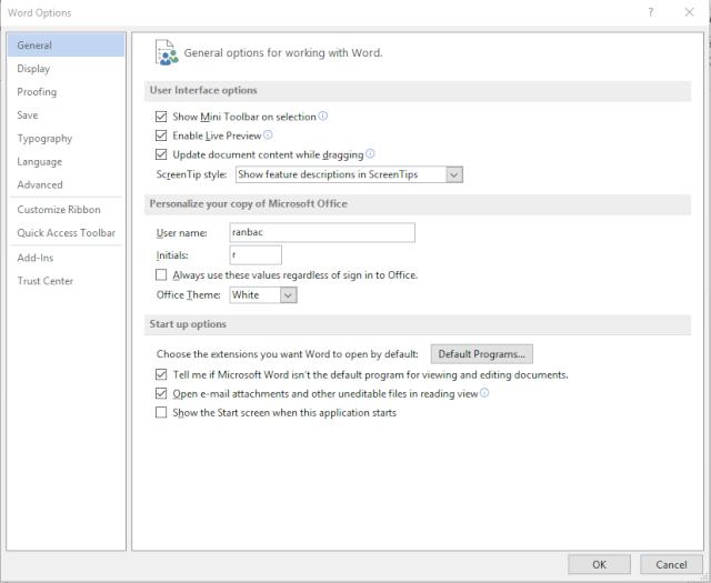 Cách vào thẳng màn hình soạn thảo trong Office 2013 Office10