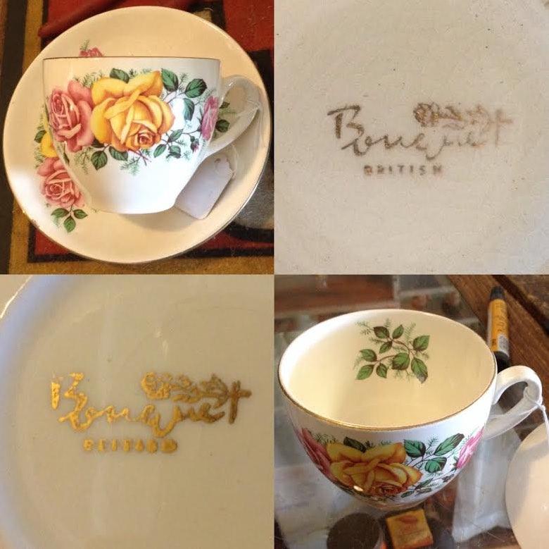 Bouquet British, pattern and backstamp Bouque10