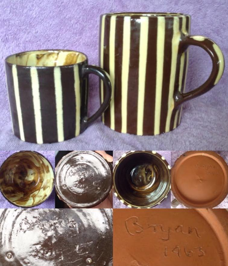 """Bryan"" 1963-68 slip-decorated mugs Bryan210"