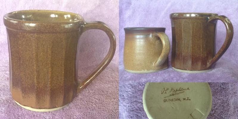 A different hand-potted O.C. Stephens mug Ocs310