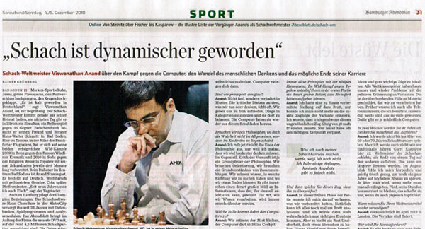 Anand: Chess has become more dynamic Anand110