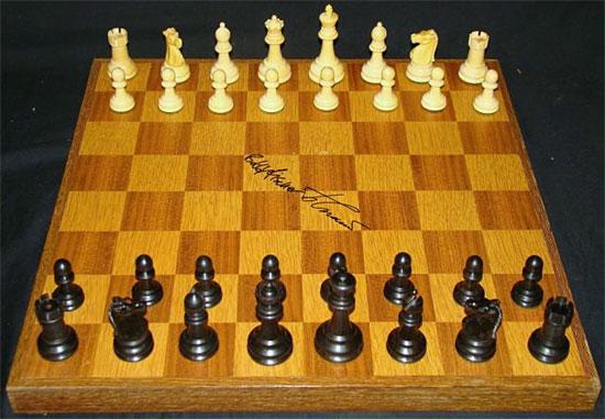 Fischer-Spassky board fetches record sum Fische11