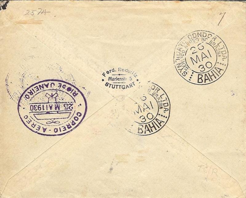 nach - Südamerikafahrt 1930, Post nach Rio de Janeiro - Seite 2 57_ee_11