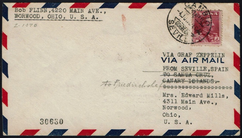 """nach - Südamerikafahrt 1930 (Rundfahrt-) Post nach Friedrichshafen"""" - Seite 6 58_g_411"""