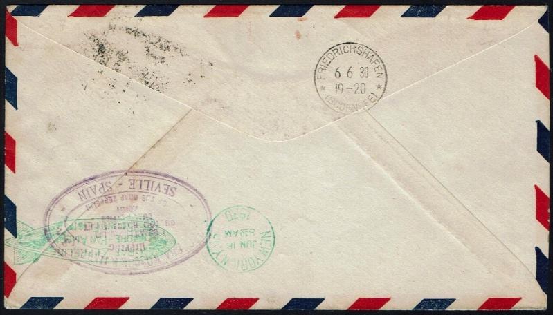 """nach - Südamerikafahrt 1930 (Rundfahrt-) Post nach Friedrichshafen"""" - Seite 6 58_g_412"""