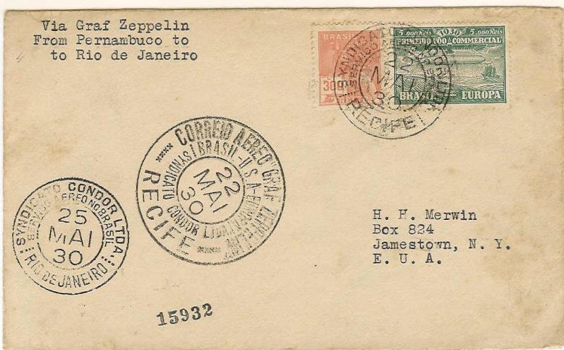 nach - Südamerikafahrt 1930, Post nach Rio de Janeiro - Seite 2 59_a10