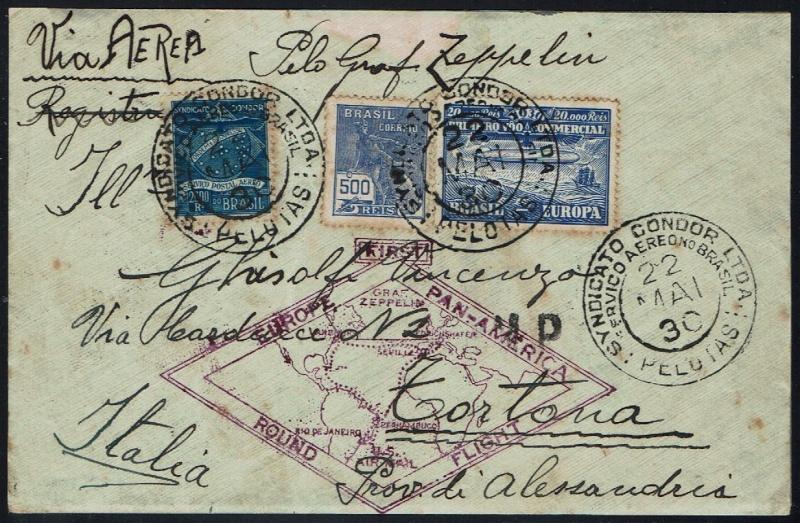 """nach - Südamerikafahrt 1930 (Rundfahrt-) Post nach Friedrichshafen"""" - Seite 6 59_c_p12"""